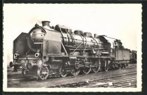 AK Französische Eisenbahn-Lokomotive No. 231 D 727, S.N.C.F.