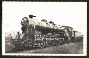 AK Französische Eisenbahn-Lokomotive der P.L.M.