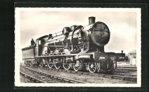 AK Französische Eisenbahn-Lokomotive No. 231-036, Etat