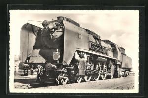 AK Französische Eisenbahn-Lokomotive No. 1402, Alsace-Lorraine