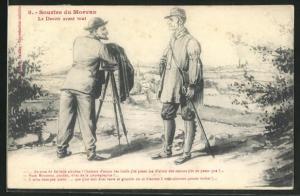 AK Fotograf unterhält sich mit einem Wanderer