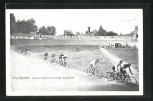 AK Course de bicyclettes sur piste, Radrennen im Velodrom
