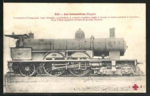 AK Eisenbahn-Lokomotive No. 669 der Ägyptischen Staatsbahn