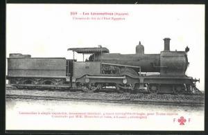 AK Eisenbahn-Tenderlokomotive der Ägyptischen Staatsbahn
