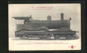 AK Eisenbahn-Lokomotive No. 637 der Ägyptischen Staatsbahn