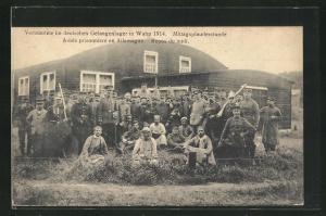 AK Wahn, Verbündete im deutschen Gefangenenlager 1914, Mittagsplauderstunde