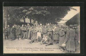 AK Wahn, Verbündete im deutschen Gefangenenlager 1914, Ruhepause nach der Mahlzeit