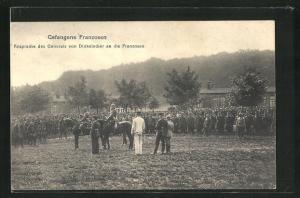 AK Gefangene Franzosen, Ansprache des Generals von Dinkelacker an die Franzosen