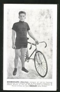 AK Charles Desmoulins, Cycle Origan, Radrennfahrer mit Fahrrad