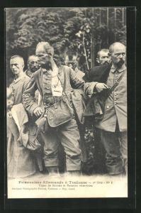 AK Toulouse, Prisonniers Allemands, Types de Saxons et Bavrois reservistes, Kriegsgefangene