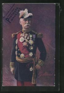 AK Heerführer Général Galliéni in Gala-Uniform mit Orden