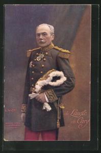 AK Heerführer General de Langle de Cary in Uniform mit Orden