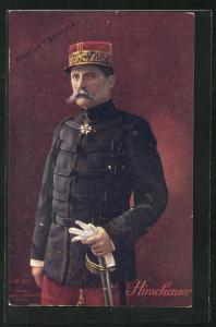 AK Heerführer General Hirschauer in Uniform mit Säbel