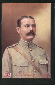 AK Portrait des britischen Heerführers Lord Kitchener