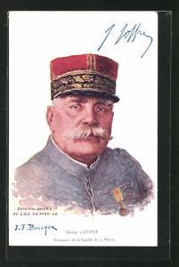 Künstler-AK Heerführer General Joffre in Uniform