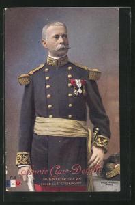 AK Heerführer General Sainte Clair-Deville in Uniform mit Orden