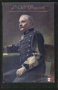 AK Heerführer Lieutenant Colonel Deport, Inventeur du 75 avec le Gal. Sainte Clair Deville