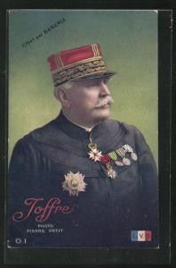 AK Heerführer General Joffre in Uniform mit Orden