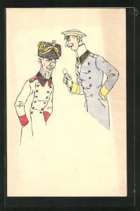 AK Soldaten in Uniform des 1.Weltkrieg