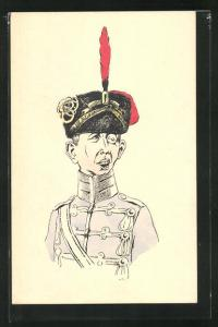 AK Soldat in Uniform 1.Weltkrieg