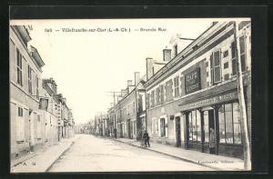 AK Villefranche-sur-Cher, Grande Rue