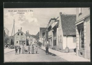 AK Habsheim i. Els, Holzgasse, Ortsansicht