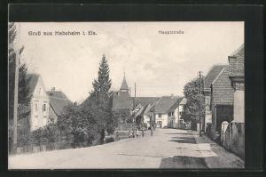 AK Habsheim i. Els., Ortsansicht, Hauptstrasse