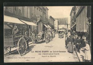 AK La Prune D`Ente, en Lot-et-Garonne, Apport au Marche