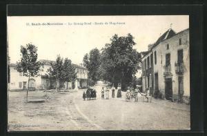 AK Sault-de-Navailles, Le Bourg-Neuf-Route de Hagetmau, Kinder auf der Strasse