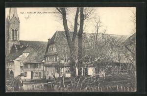 AK Hinglingen, pres Dannemarie, Kirchturm