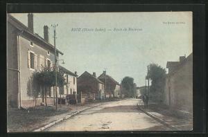 AK Rioz, Route de Besancon, Häuserpartie