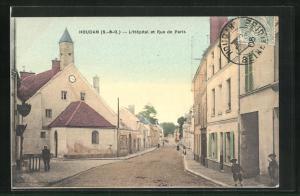 AK Houdan, L`Hopital et Rue de Paris