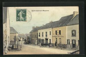 AK Saint-Jean-sur-Mayenne, Gebäudepartie