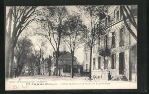 AK Bergerac, L'Hotel des Postes et le Boulevard Maine-de-Biran