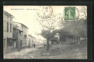 AK Aurignac, Rue des Mures