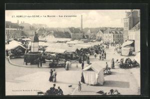 AK Romilly-sur-Seine, Le Marche, Vue d'ensemble