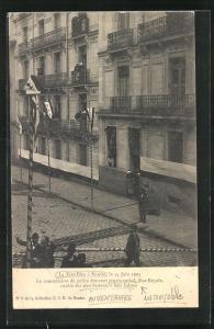 AK Nantes, La Fete-Dieu 14.6.1903, Manifestants a leur balcon