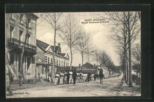 AK Saint-Maixent, Route Nationale de Paris, Strassenpartie