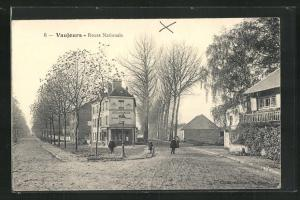 AK Vaujours, Route Nationale, Hotel de Grand Cerf