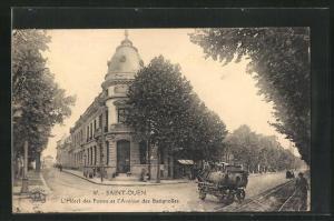 AK Saint-Ouen, L`Hotel des Postes et l`Avenue des Batignolles
