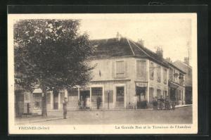 AK Fresnes, La Grande Rue et le Terminus de l`Autobus