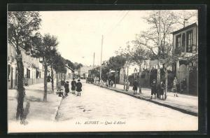 AK Alfort, Quai d`Alfort, Strassenpartie