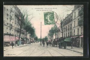 AK Charenton, Rue de Saint Mandè prise de l`Avenue de l`Asile