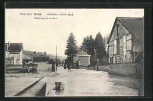 AK Bar-sur-Seine, Faubourg de la Gare