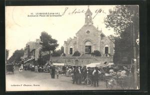AK La Baule, Avenue et Place de la Chapelle