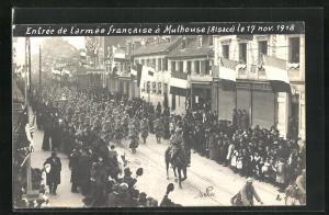 AK Mulhouse, Entree de l`armee francaise a Mulhouse