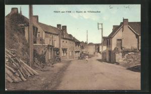 AK Tessy-sur-Vire, Route de Villebaudon