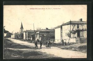 AK Longeville-sur-Aine, Grande Rue