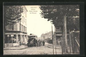 AK Arcueil, Vieux Chemin de Villejuif