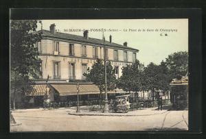 AK St-Maur-des-Fosses, La Place de la Gare de Champigny